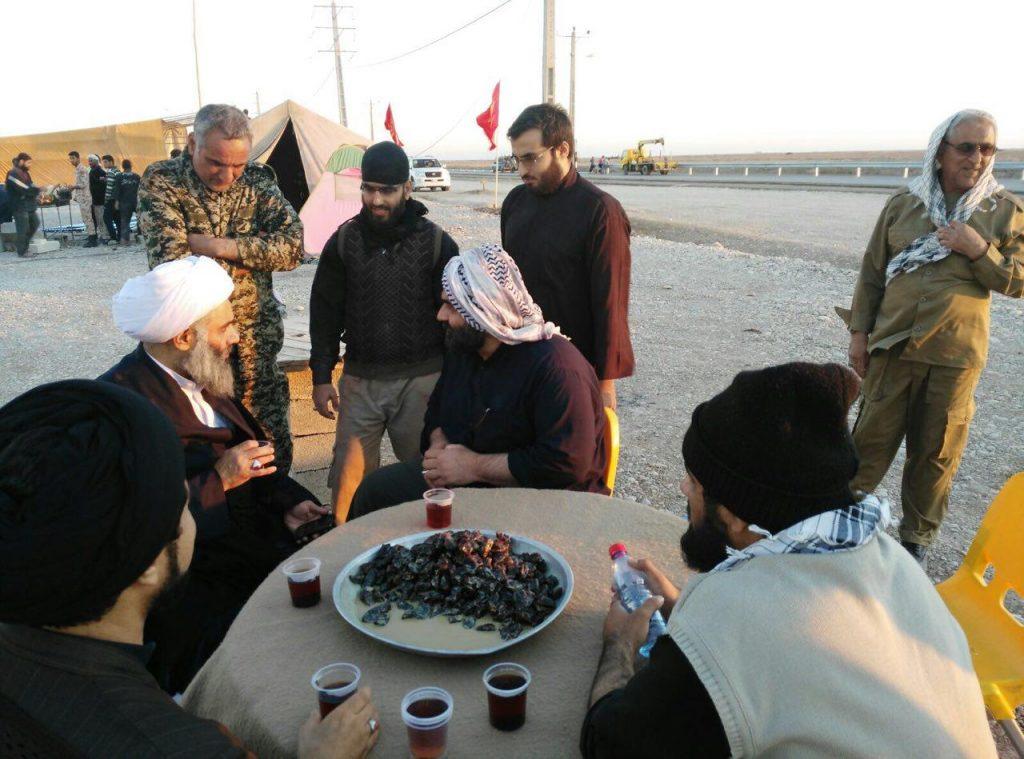مرز شلمچه، در جمع زائرین و خادمان اربعین حسینی