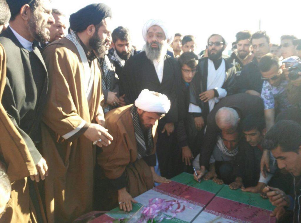سخنرانی و تشییع و تدفین دو شهید گمنام دفاع مقدس؛ شهرستان باغملک