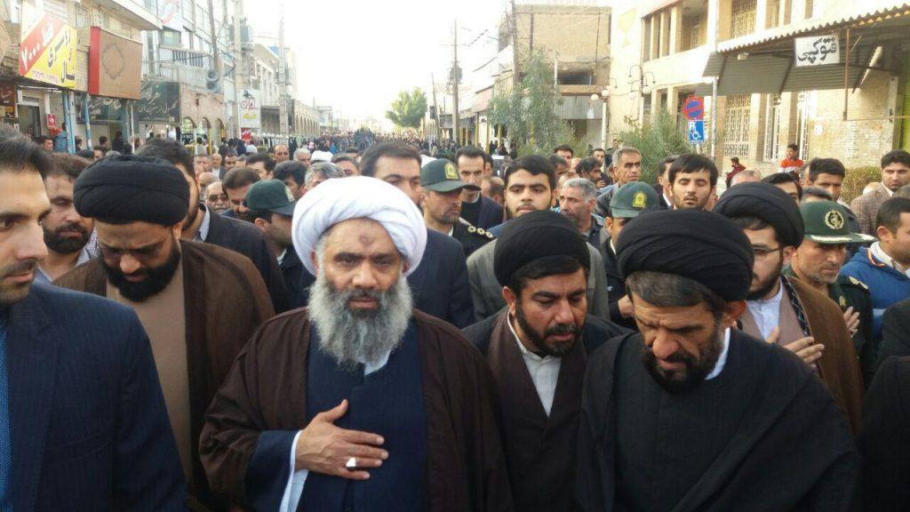 مراسم تشییع و تدفین حجةالاسلام صحرایی(امیدیه) و حجة الاسلام سید ناصر موسوی(رامهرمز)