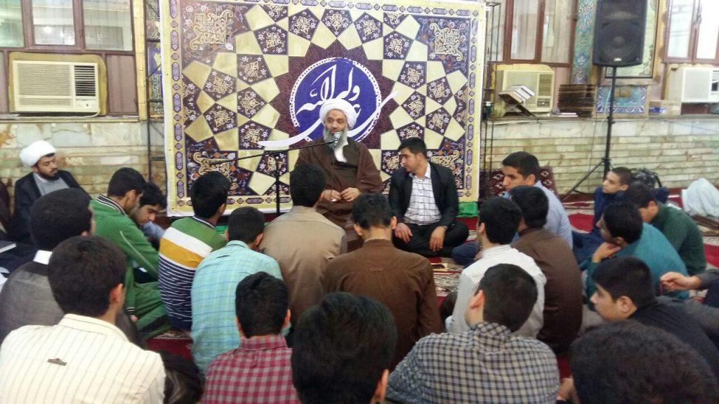 حضور و سخنرانی در ۱۳ مسجد اهواز در ایام اعتکاف